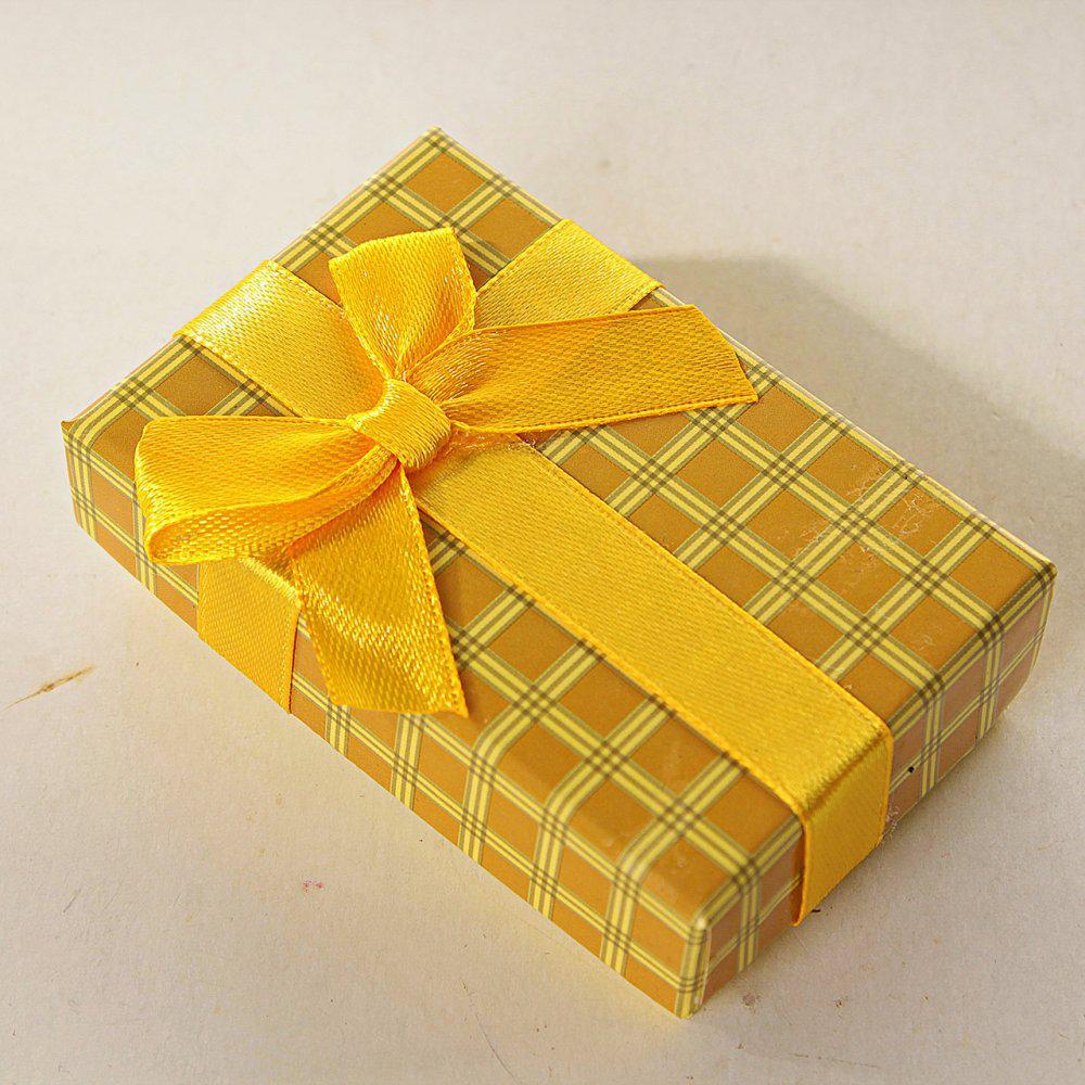 Подарочная коробочка №17-4 для для сережек и колец прямоугольная Клетка средняя 24 шт. [8/5/3 см]