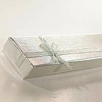 [21/4,5/2 см] Подарочная коробочка для цепочки, браслета Серебро длинная 12 шт.