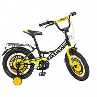 """Велосипед детский, 2-х колесный, PROF1 16"""", Original boy, черный, звонок, допопнительные колеса, Y1643"""