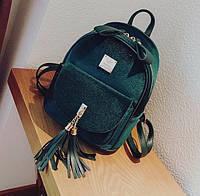 Городской портфель для девушек зеленый