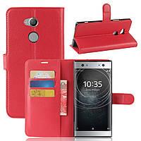 Чехол Sony XA2 Ultra / H4213 / H3213 / H3223 / H4233 книжка PU-Кожа красный