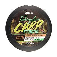 Леска GC Carp Strong DCM 1000м 0.286мм 18lb Camo (диаметр 0.286 мм)