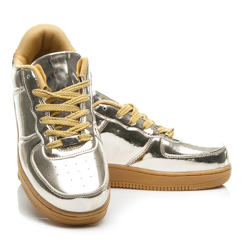 Стильные кроссовки из эко кожи купить Киев Украина фото 2015г BK15641GO