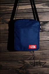 Сумка мессенджер The North Face синего цвета (люкс копия)