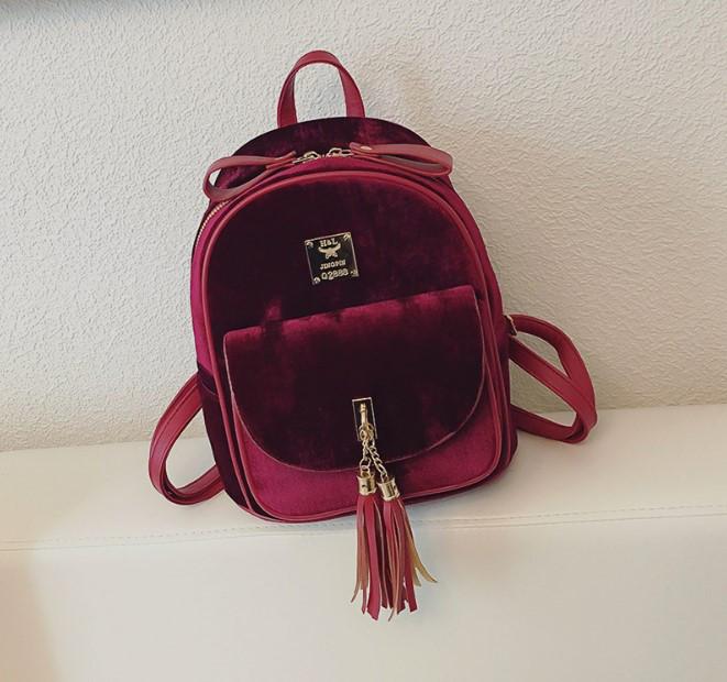 Городской портфель для девушек красный
