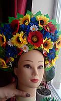 """Кокошник на голову """"Украинский Роскошный"""", 19 см высота"""