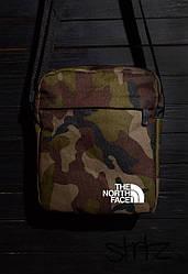 Сумка мессенджер The North Face камуфляжного цвета