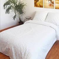 Постельное белье Жаккард белый (поплин, 100% хлопок)