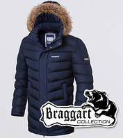 Зимняя куртка с опушкой Braggart 4277 синяя