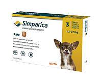 Симпарика (Simparica) таблетки от блох и клещей для собак, 3 таб.