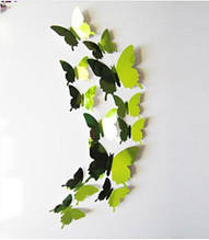 Бабочки зеркальные зеленого цвета - 12шт.
