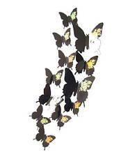 """Декор """"Бабочки"""" черные - 12шт."""