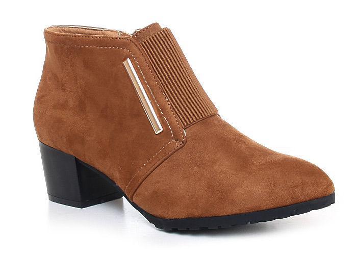 Классические ботинки на каблуке коричневые купить Киев Украина фото 2015г B3-3 Z143 Sx392 Camelowe