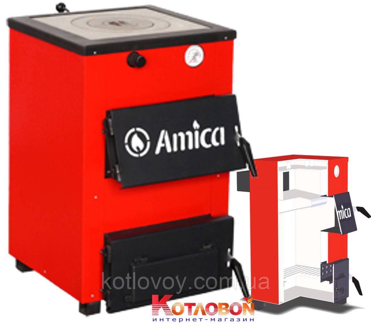 Твердотопливный котел Amica Optima (Амика Оптима) с чугунной плитой