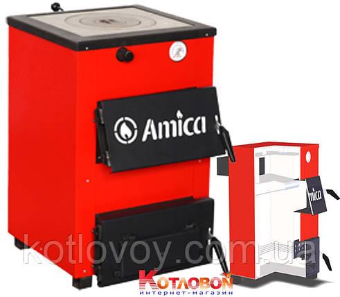 Твердотопливный котел Amica Optima (Амика Оптима) с чугунной плитой, фото 2