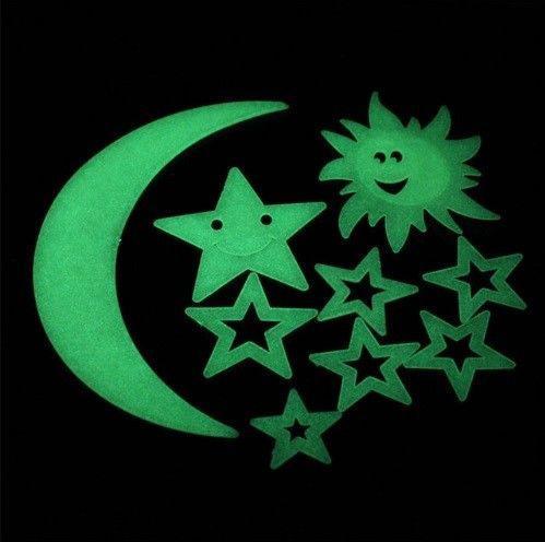 Светящиеся звезды с луной
