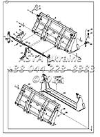 КОВШ для экскаватора-погрузчика Hidromek 102B
