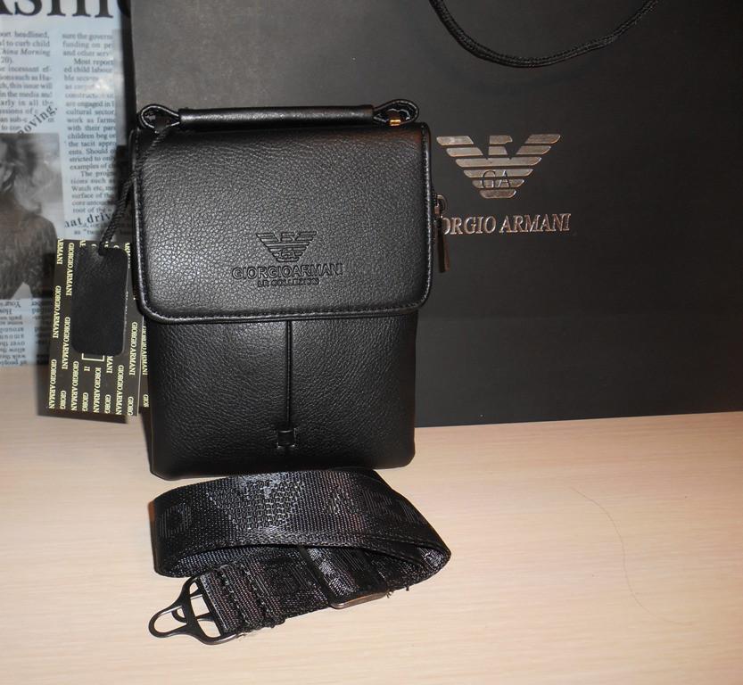 Сумка мужская, барсетка Armani, кожа, Италия код 830-1 - DONINI boutique 382766cd427