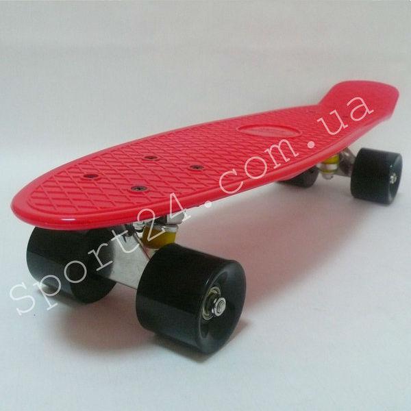 Красный пенни борд 22 Penny board (PVC аморт, до 60 кг)