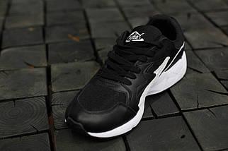 Мужские кроссовки Puma Trinomic.Черные,кожа-текстиль , фото 2