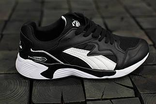 Мужские кроссовки Puma Trinomic.Черные,кожа-текстиль , фото 3