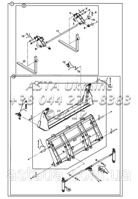 Ковш и Крепления для экскаватора-погрузчика Hidromek 102B