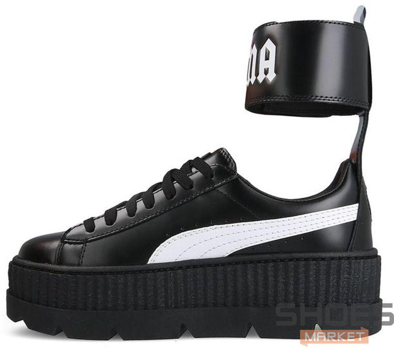 outlet store a582a c4175 Женские кроссовки Puma x Fenty Ankle Strap Creeper Black 366264-03, Пума  Фенти Анкл