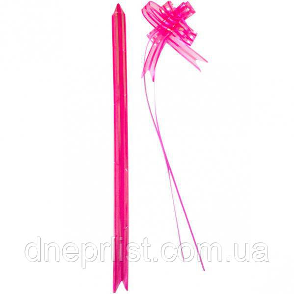 Подарочный бант-затяжка из органзы 18 мм / Розовый