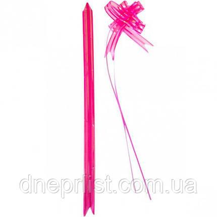 Подарочный бант-затяжка из органзы 18 мм / Розовый, фото 2