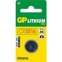 Батарейка GP дискова Lithium Button Cell 3.0V CR2016-8U5 літієві