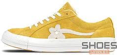 Женские кроссовки Converse One Star GLF OX Yellow 160323C, Конверс Ван Стар