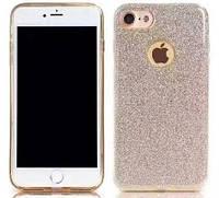 Силиконовая накладка Gliter для Iphone 6/6S (Gold), фото 1