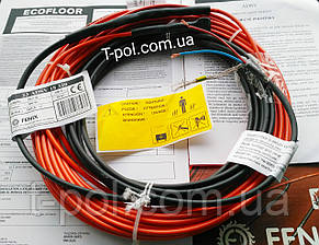 Теплый пол двужильный кабель 14,5 м в стяжку Fenix adsv18 260 вт на 1,7 м2, фото 2
