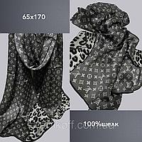 Шарф палантин брендовый TAH Луи Витон шелк100%, 65х170,  цв. 1
