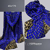 Шарф палантин брендовый TAH Луи Витон шелк100%, 65х170, цв.3