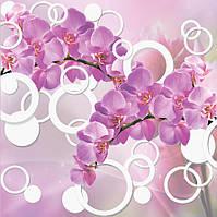 Фотообои 3Д орхидея 3D