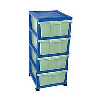 Пластиковый сине-зеленый комод Classic Elif plastik 300-5LFF