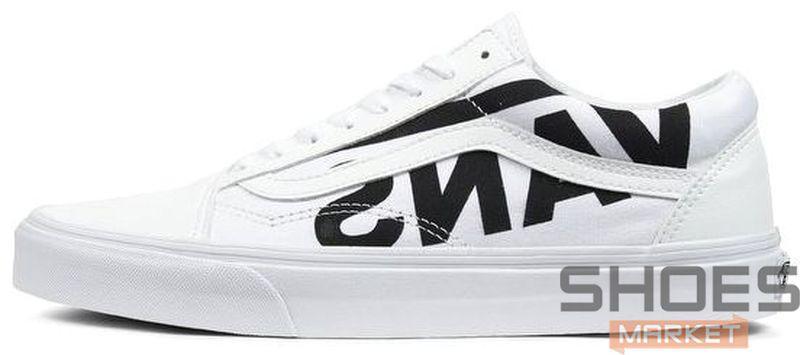 """Мужские Кроссовки Vans Old Skool """"Flying-V"""" Logo White — в Категории"""