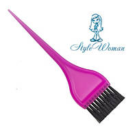 Кисть для окрашивания волос узкая цветная №214 кисточка для краски