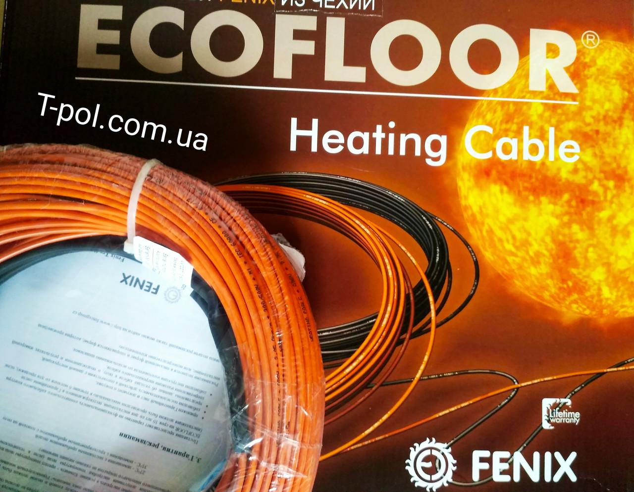 Теплый пол двужильный кабель 46,1 м в стяжку Fenix adsv18 830 вт на 5,5 м2