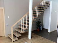 Консольная лестница на металлическом каркасе. В дом или квартиру. На второй этаж. Изготовление на заказ, фото 1