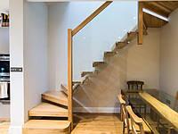Консольная лестница с забежными ступенями. В дом или квартиру. На второй этаж. Изготовление на заказ , фото 1