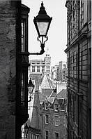 Фотообои город,фонарь
