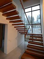 П-образная консольная лестница с площадкой. В дом или квартиру. На второй этаж. Изготовление на заказ, фото 1