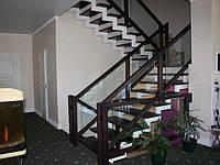 Лестница на 2 ломаных косоурах. Металлокаркас. В дом или квартиру. На второй этаж. Изготовление на заказ, фото 1