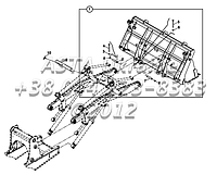 Крепления стрелы для экскаватора-погрузчика Hidromek 102B