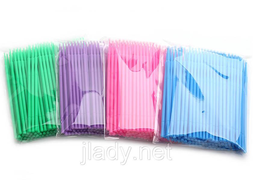 Микробраши для ресниц и бровей (Пакет 100шт.)