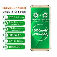 Смартфон Oukitel K5000 золотой (5,7 дюймов, памяти 4/64,батарея 5000 мАч), фото 1