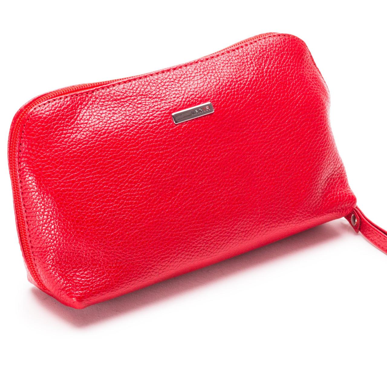 ea6e8d678b3d Женская косметичка красная из натуральной кожи Karya 2020-46: от ...