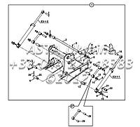 Крепления стрелы для экскаватора-погрузчика Hidromek 102B, фото 1